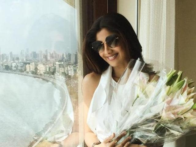 Actor Shilpa Shetty posted pictures of her birthday celebrations with her husband Raj Kundra on Instagram.