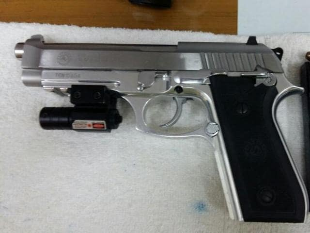 The Taurus pistol costs anywhere between Rs 30 lakh to Rs 40 lakh and is not sold in India.