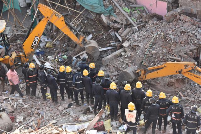 A portion of a five-storey building collapsed in Matunga area of South Mumbai.