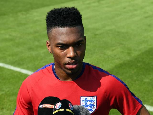 England's forward Daniel Sturridge speaks to the media at their training ground in Chantilly during the Euro 2016 football tournament
