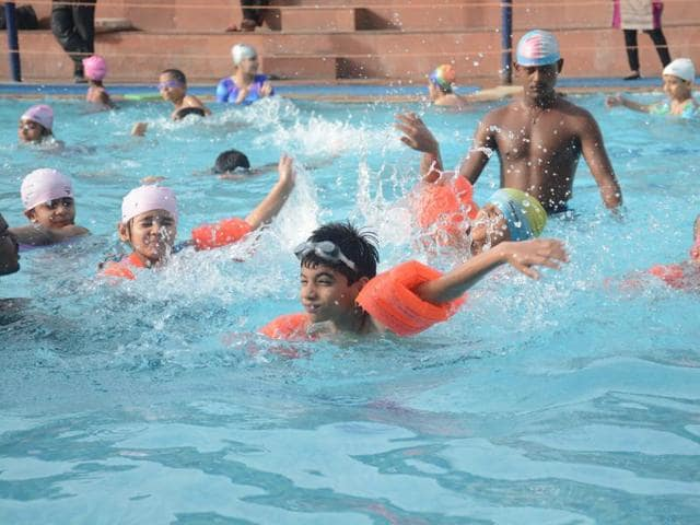 The Neemuch Nagar Palika has cut water supply to the swimming pool this summer due to scarcity of water .