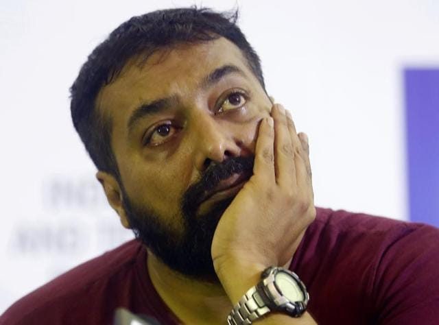 Producer of Bollywood film 'Udta Punjab,' or 'Flying Punjab', Anurag Kashyap gestures during a press conference, in Mumbai.