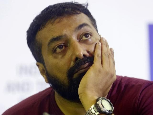 Producer of Bollywood film 'Udta Punjab' Anurag Kashyap gestures during a press conference, in Mumbai, Wednesday.