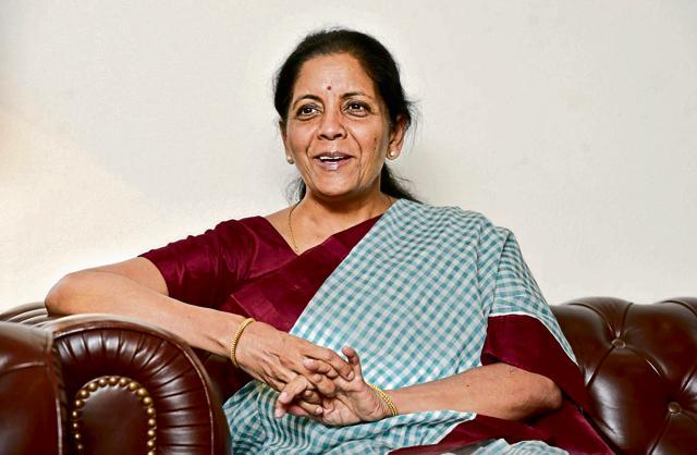 Commerce minister Nirmala Sitharaman.