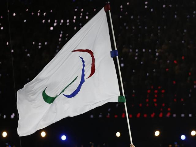 File photo of the Paralympic flag. The world governing body IPC has announced temporary lifting of suspension imposed on the national body last year so that Indians can participate in Rio Paralympics.