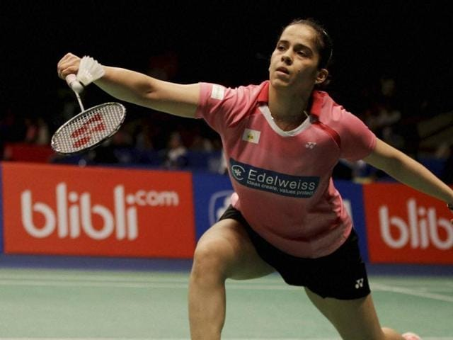Saina Nehwal dominated the match as she defeated Joy Lai 21-10, 21-14 in just 29 minutes.