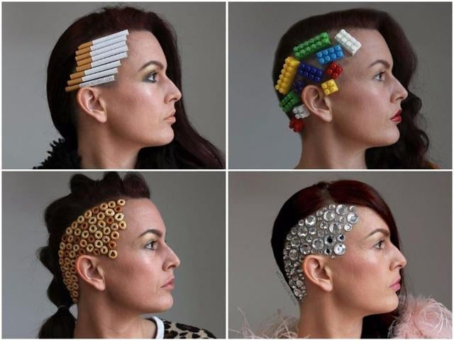 Who knew, undercuts look even better with a little bling, cereal, balloons, pearls and barbie shoes?