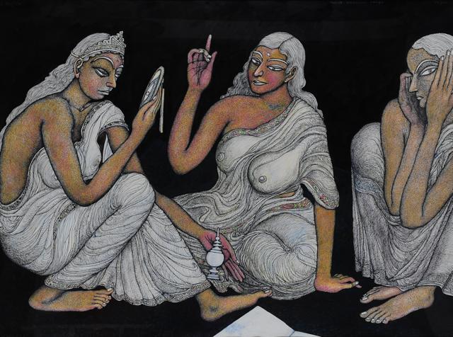 Jogen Chowdhury,art,painting