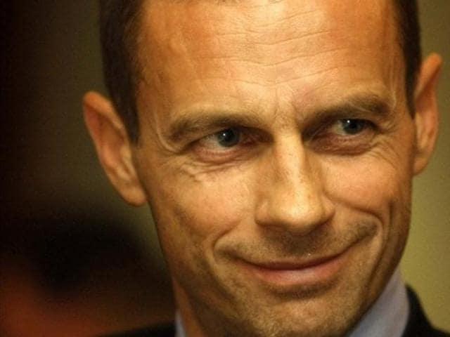 File photo of Slovenian football association boss Aleksander Ceferin.