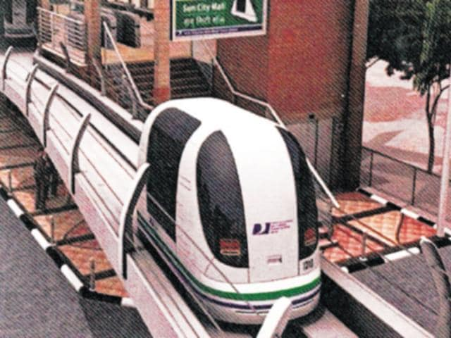 POD TAXI: The project, announced in 2009, remained in a limbo for several years but the recent push by the Union transport minister Nitin Gadkari seems to have given it a new lease of life.