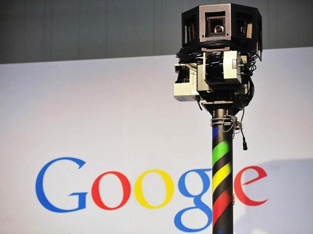 File photo of a camera used in a Google Street View car.