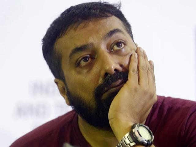 Producer of Bollywood film 'Udta Punjab' Anurag Kashyap gestures during a press conference.(AP Photo)