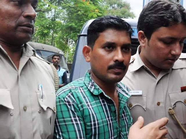 T Rajkumar Rao, the alleged kingpin in the kidney trade racket, who was arrested by Delhi Police from Rajarhat in West Bengal on Tuesday, being produced before a court which granted his transit remand for three days on Wednesday.