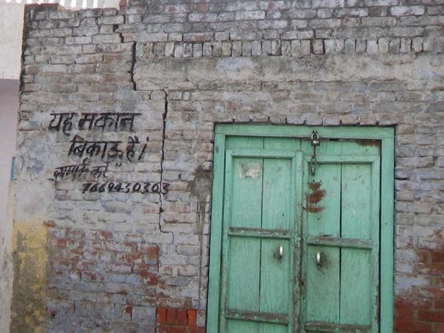 A property on sale after its owners migrated from Kairana.