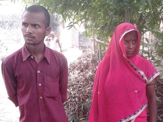 Suraj (R) married his mother-in-law Asha Devi in a panchayat-approved ceremony in Bihar's Madhepura district.
