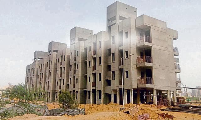 Around 60,000 apartments measuring about 400 to 600 sq ft are up for sale in Haryana.