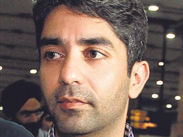Olympic champion Abhinav Bindra during a felicitation function in Bhopal.