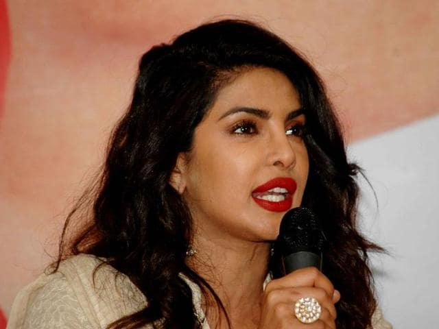 "Priyanka Chopra during a press conference in Patna. On the Udta Punjab controversy, the actor said CBFC is a ""certification body and not censor."""