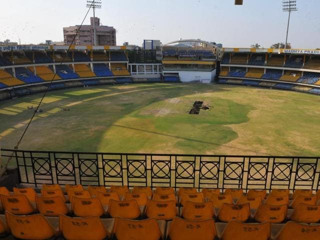 Ground work on full swing at Holkar stadium in Indore, which will host its first test match during the India-New Zealand series to be held during September-October, 2016.