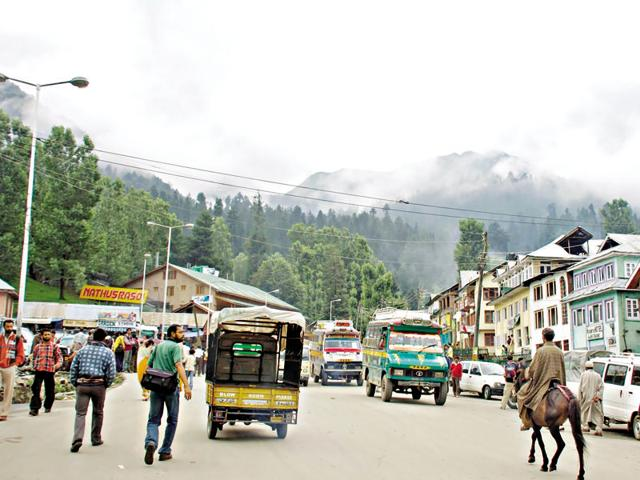 As if the scenary isn't enough, the sights you see on the roads will take your breath away. Here, a nomadic Kashmiri man walks by with his cattle.