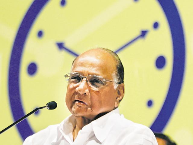 Sharad Pawar at the NCP's Young Womens Conference at Y.B. Chavan in Mumbai.