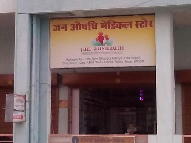 A Jan Aushadhi store at Saket Nagar in Bhopal. The state government runs eight generic drug stores.