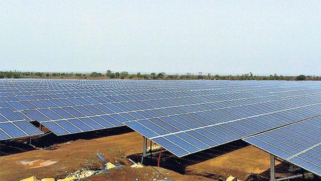 A solar power park.