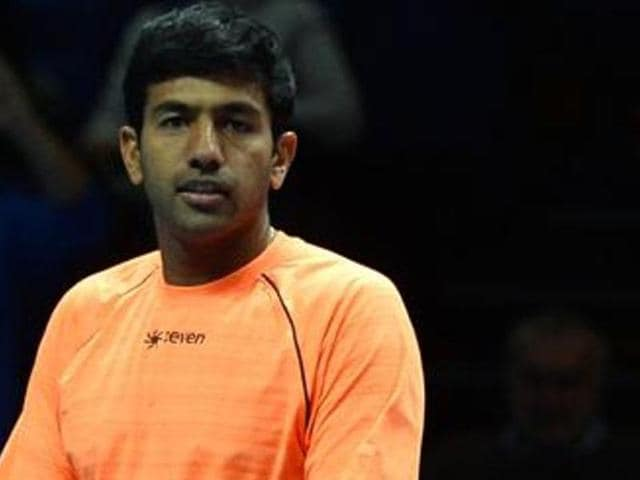 Rohan Bopanna celebrates after beating Brazil's Marcelo Melo and Croatia's Ivan Dodig in a men's doubles semifinal match of the ATP World Tour Finals tennis tournament in London.