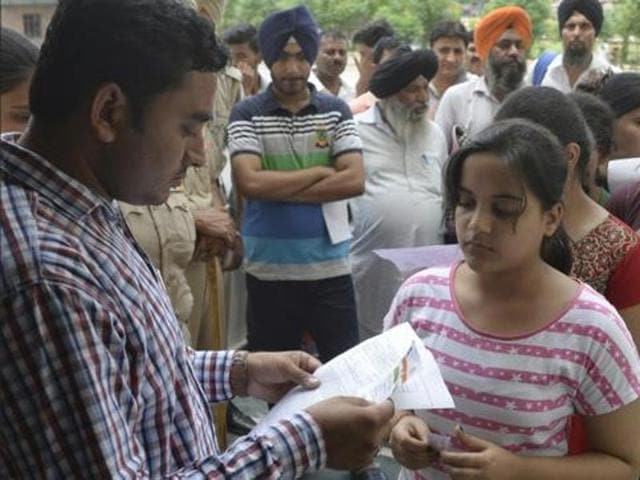 The entrance test featured nearly 14,700 candidates across the state.