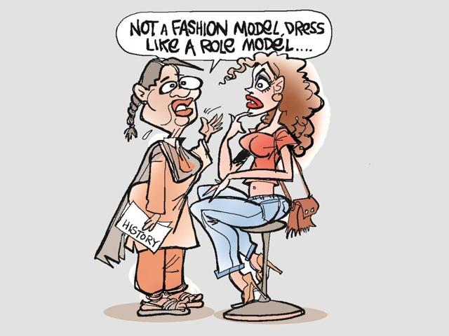 Top Haryana education department officials defended the order barring women teachers from wearing jeans, saying teachers were regarded as role models for students and should be dressed appropriately.