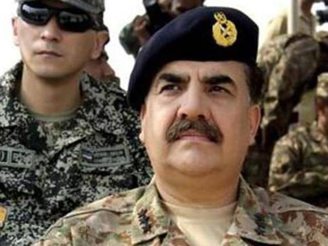 File photo of Pakistan Army chief Raheel Sharif. Sharif has asked the US to target Taliban hideouts in Afghanistan.