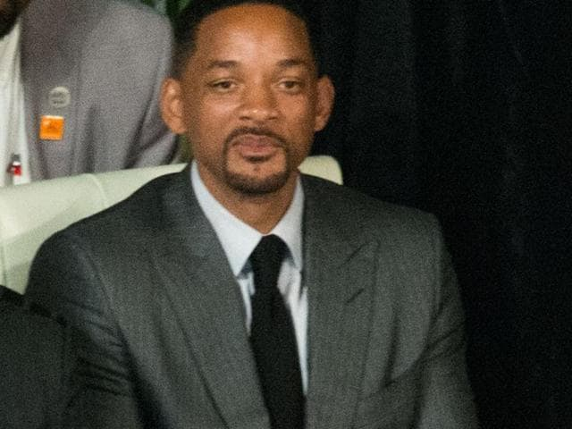 Actor Will Smith attends the memorial service for boxing legend Muhammad Ali at the KFC Yum Center on June 10, 2016 in Louisville, Kentucky.