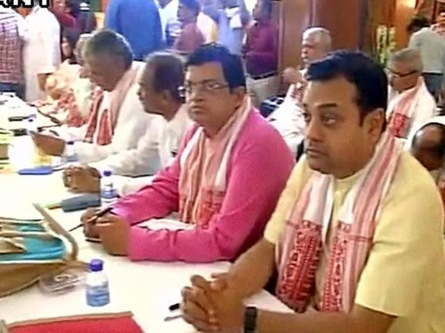 Visuals from BJP office bearers' meeting in Allahabad.