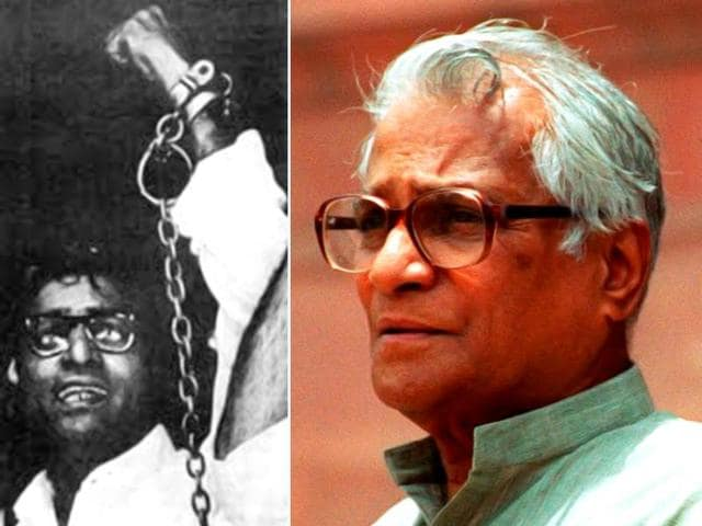 George Fernandes in handcuffs raising his hand in defiance is one of the most enduring images of the Emergency era.