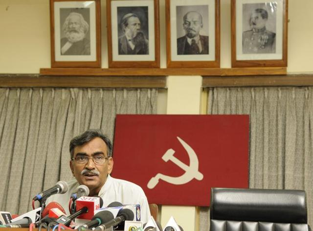 Notwithstanding the defeat that the Left Front-Congress alliance faced in the West Bengal Assembly polls, CPI(M) state secretary Surya Kanta Mishra batted for carrying forward the alliance during a party meet on Saturday, even as he faced opposition from a section of the  party leadership.