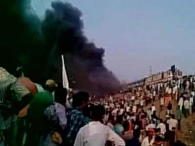 The agitation by Kapus turned violent at Tuni when the protesters went on a rampage, setting afire a passenger train, a police station as well as police and private vehicles on January 31.