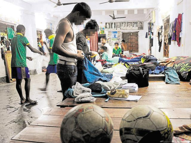 The players, children of sex workers in Kolkata's Sonagachi, are hoping for a spot in the national under-15 league.