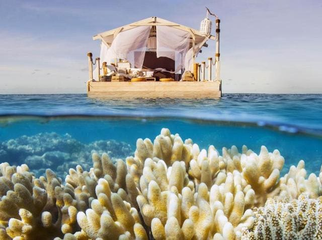 Airbnb,floating studio apartment,Great Barrier Reef