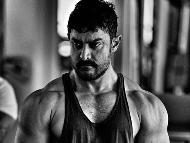 Aamir Khan in a poster for Dangal.