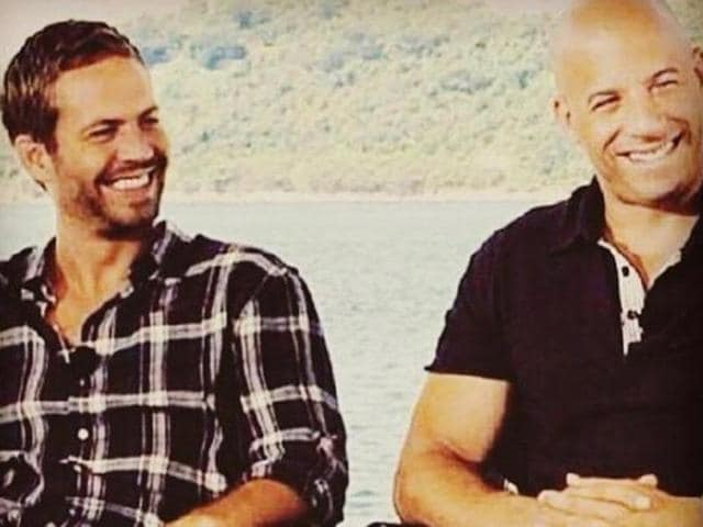 In an emotional tribute to his Fast and Furious co-star Paul Walker, Vin Diesel shared a picture of his daughter  with Paul smiling and looking at them from the sky above.