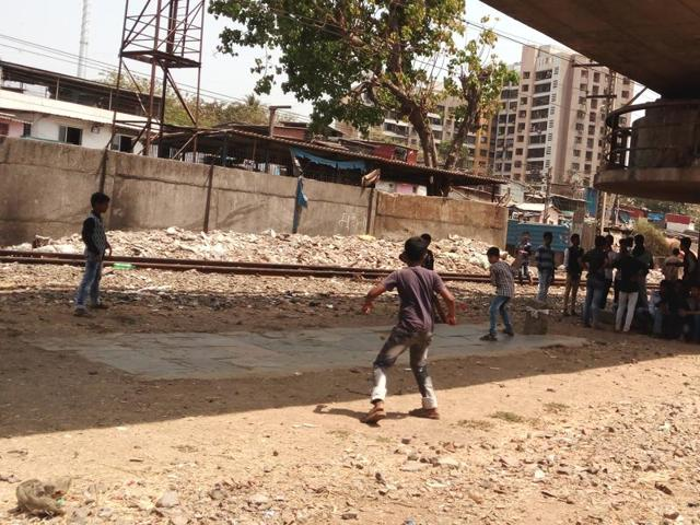 A photograph of children playing near the railway tracks taken as part of the community workshops.(Courtesy: Pukar)