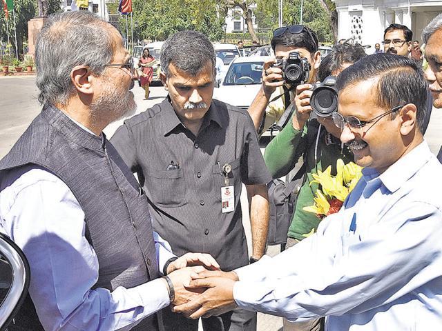 Arvind Kejriwal,Najeeb Jung,BR Ambedkar Hospital