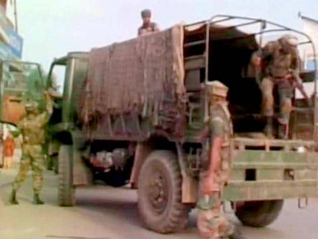 Militants attacked a CRPF camp on the Jammu-Srinagar national highway in Kud area of Udhampur district.