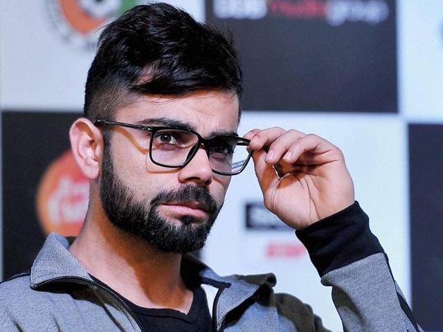 Cricketer Virat Kohli at an event in Chennai.