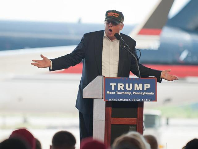 Republican presidential candidate Donald Trump during a campaign speech  on June 11, 2016, in Tampa, Fla.  After the mass shooting in Orlando on Sunday, Trump tweeted that he had been proved right about his warnings over 'radical Islamic terrorism'.