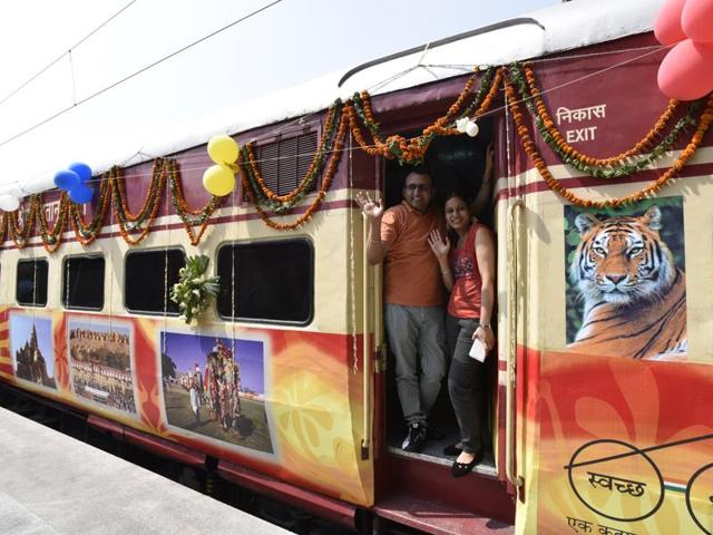 """IRCTC's new semi luxury train Tiger Express embarked on a """"Roaring Journey"""" on World Environment Day, June 5 to experience the best of wildlife in Madhya Pradesh with some 24 nature loving passengers."""