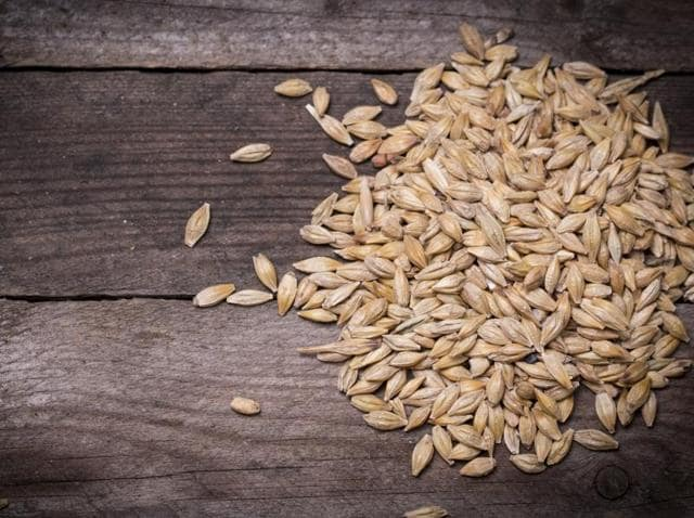 Whole grains, such as barley pictured here, contain fibre, which may improve cholesterol levels and lower the risk of heart disease, stroke, obesity and type two diabetes.