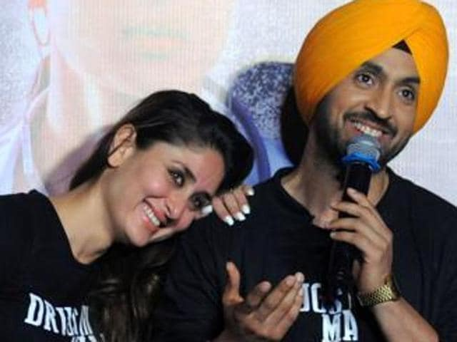 Kareena Kapoor Khan and Diljit Dosanjh at a promotional event for the movie.