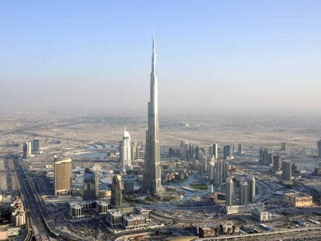 The fire broke out only a few kilometers from the Burj Khalifa, the world's tallest building.