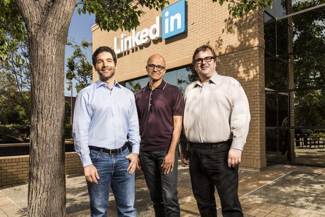 Microsoft,LinkedIn,Satya Nadella